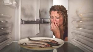 От запаха рыбы